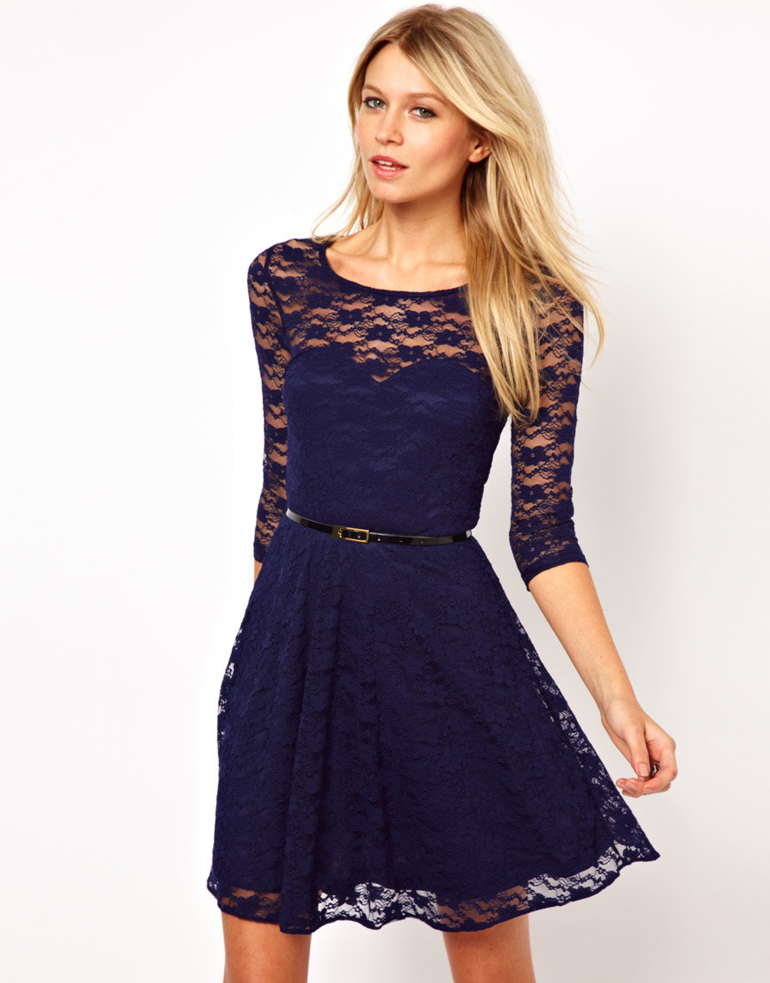 Lace skater dresses dressed up girl