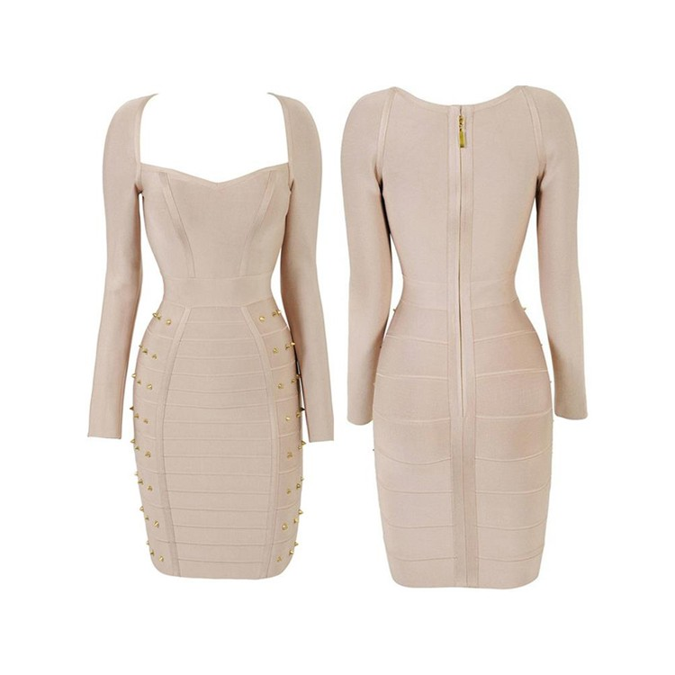 Long sleeve bandage dress australia