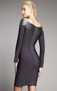 Long Sleeve Bandage Dress Photos