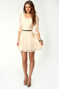 Skater Dress With Lace