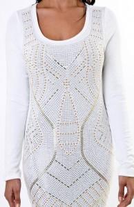 White Bodycon Dress Long Sleeve