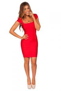 Bandage Dress Red