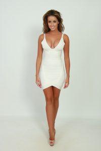 Bandage Dress White