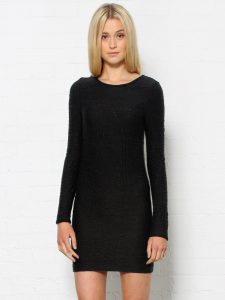 Black Bodycon Dress Long Sleeve