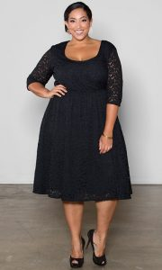 Black Lace Dress Plus Size