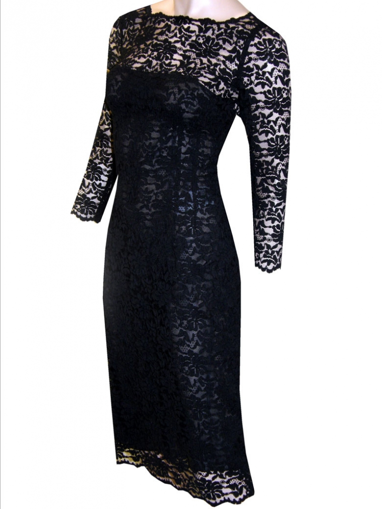 Black Lace Dress Picture Collection Dressedupgirl Com