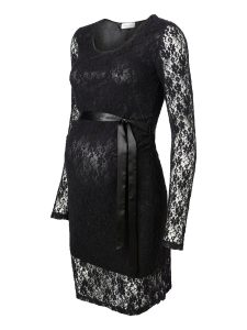 Black Lace Maternity Dress