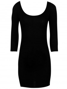 Black Long Sleeve Bodycon Dress