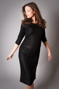 Black Maternity Cocktail Dress