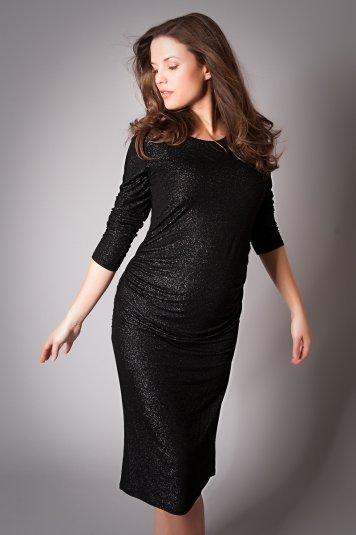 Black maternity party dress