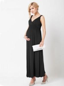 Black Maternity Maxi Dress