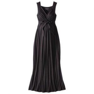Black Maxi Maternity Dress