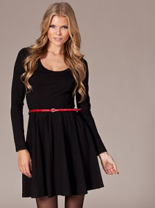 Black Skater Dress Long Sleeve