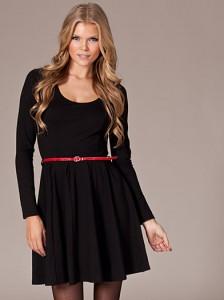 Black Skater Dress Long Sleeve
