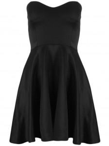 Black Strapless Skater Dress