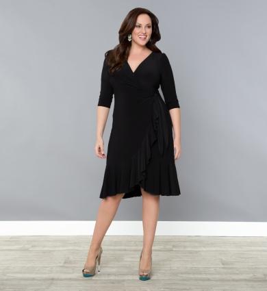Black Wrap Dress | Dressed Up Girl