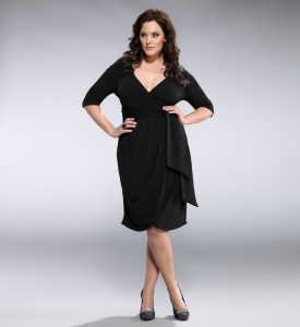 Black Wrap Dress Plus Size
