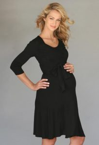 Black Wrap Maternity Dress