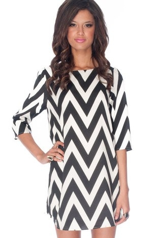 There are even ones which make excellent use of the dramatic pairing of the colors black and white. When you wear these cheap chevron dresses you will be seen as a true trendsetter. People will see you as a create innovator and curious fashion innovator.