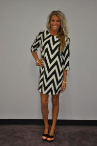 Black and White Chevron Dresses