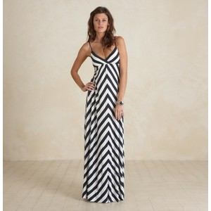 Black and White Chevron Maxi Dress