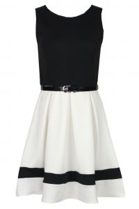 Black and White Skater Dress