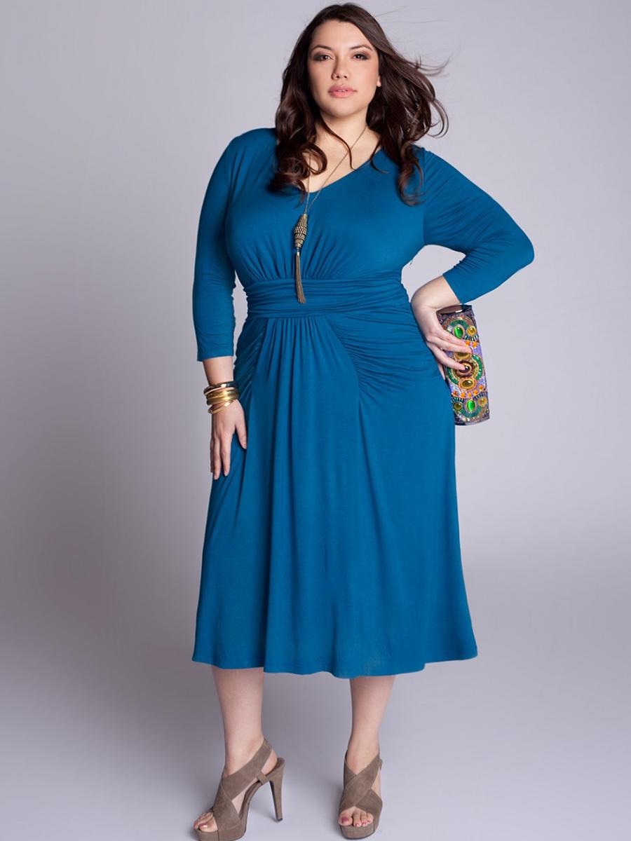 Plus Size Wrap Dress Picture Collection | DressedUpGirl.com