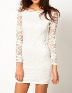 Bodycon White Lace Dress