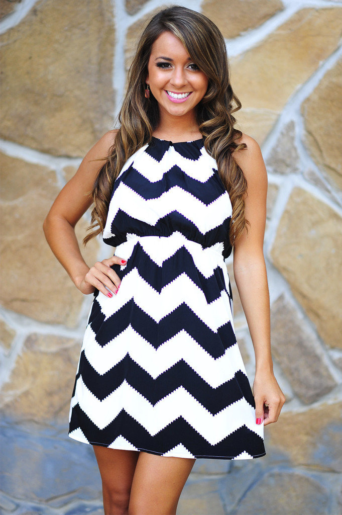 Black And White Chevron Dress Picture Collection | Dressed Up Girl