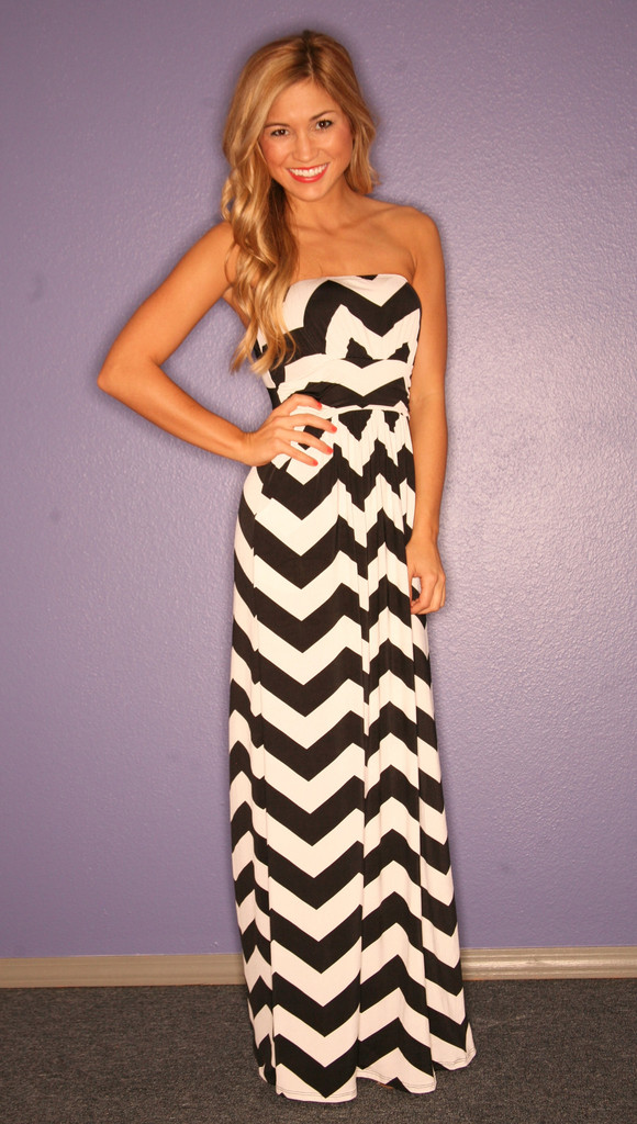 Chevron Maxi Dress Dressed Up Girl