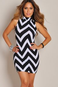 Chevron Print Dress for Women