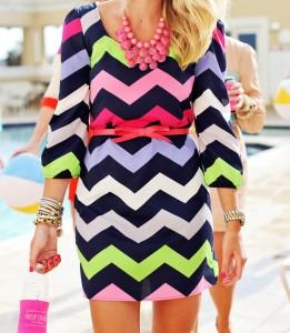 Chevron Print Dresses