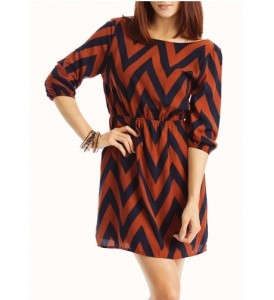 Chevron Printed Dresses