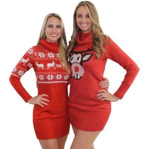 Christmas Sweater Dress For Women