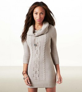 Cowl Neck Sweater Dresses