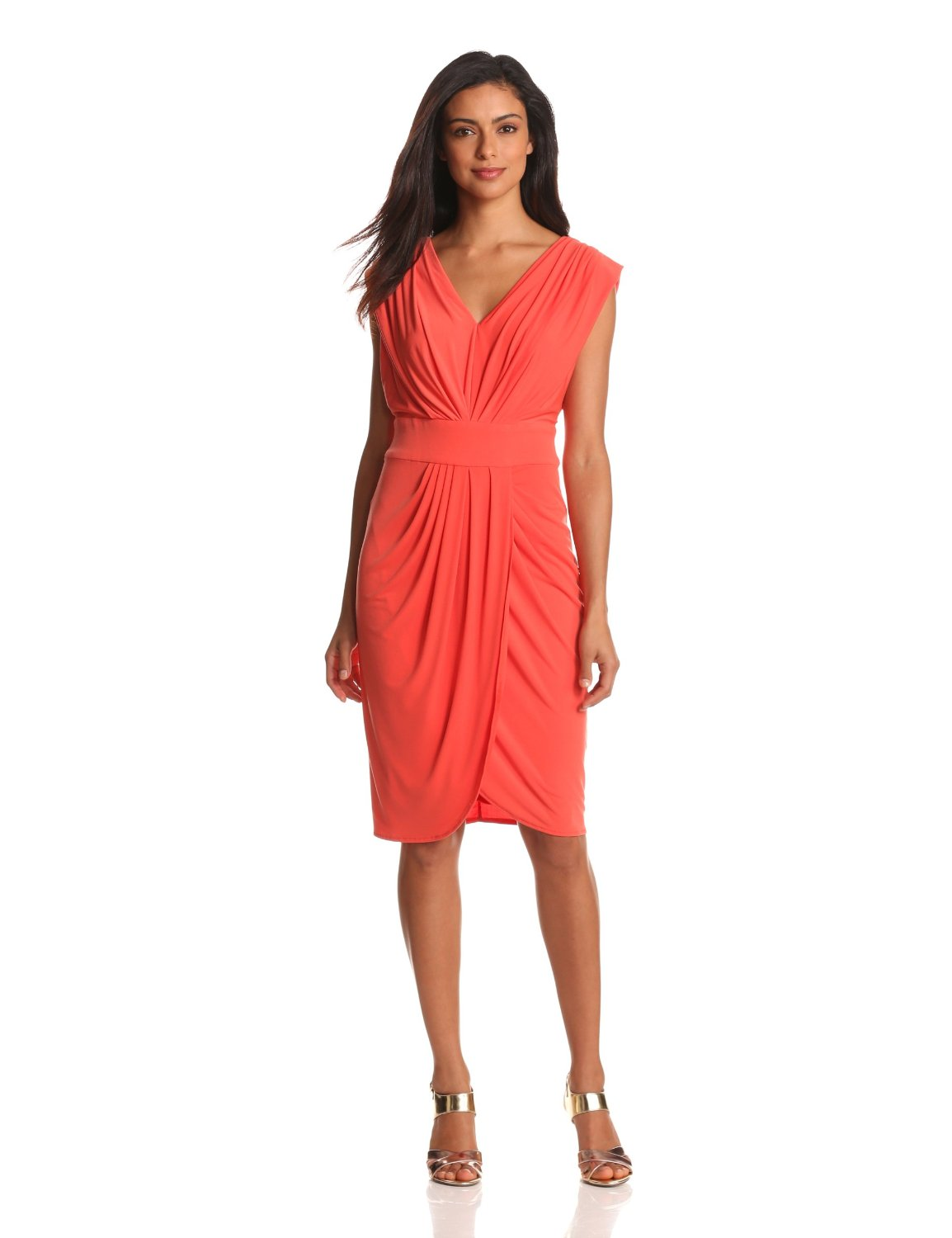 Christmas dresses for women - Faux Wrap Dress Dressed Up Girl