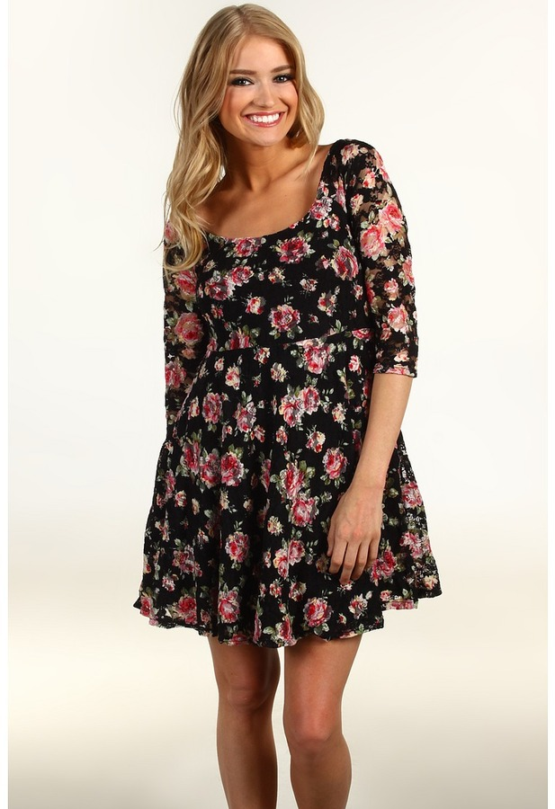 Floral Skater Dress Dressed Up Girl
