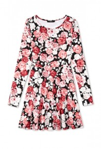 Floral Skater Dress Full Sleeve