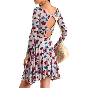 Full Sleeve Floral Skater Dress