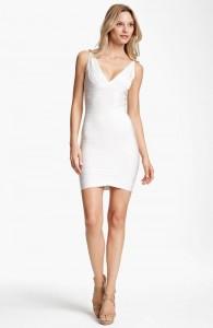 Herve Leger White Bandage Dress