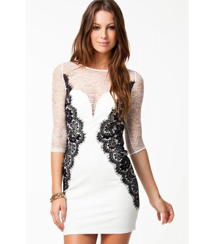 Lace Cocktail Dresses With Sleeves