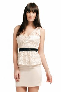Lace Peplum Dresses