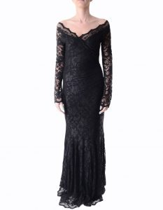 Long Black Lace Dress
