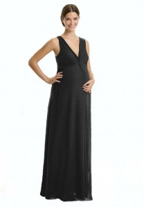 Long Black Maternity Dress