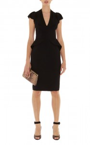 Long Black Peplum Dress