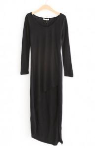 Long Black Sweater Dress