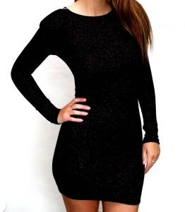 Long Sleeve Black Bodycon Dress