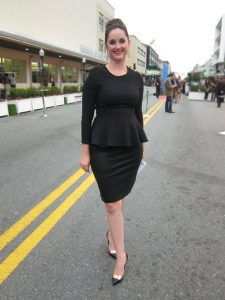 Long Sleeve Black Peplum Dress