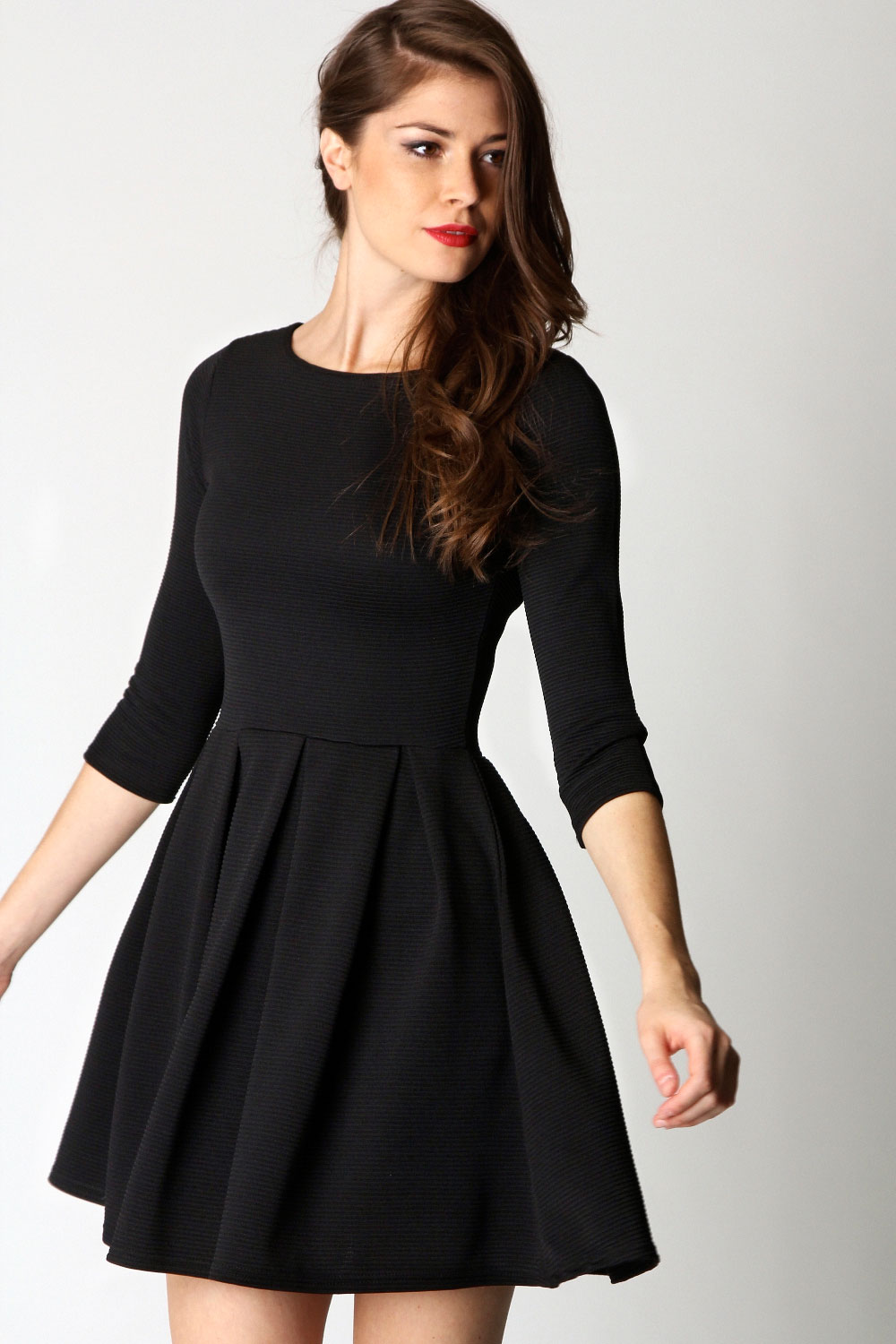 long sleeve skater dress dressed up girl