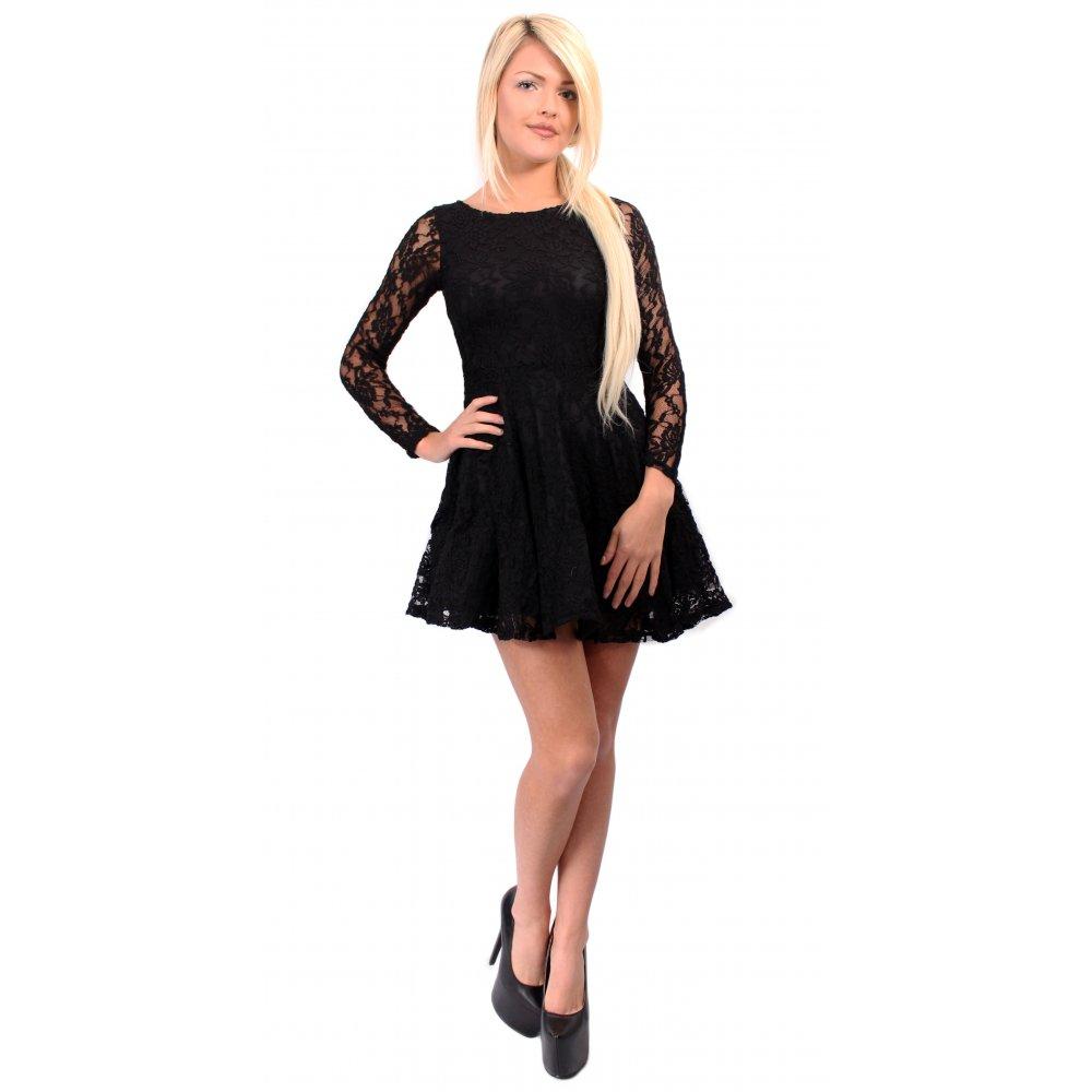 black skater dress dressed up girl